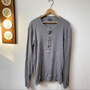 Dolce & Gabbana Ribbed Thermal Knit Henley